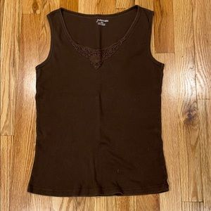 St John's Bay tank top with lacy detail